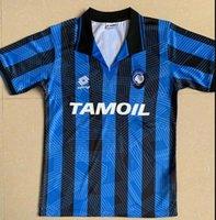 Top 1991/92 Atalanta Retro Caniggia Stromberg PAULINO Camisetas de futbol camisas de futebol kits uniformes de futebol camisa de futebol de qualidade tailândia