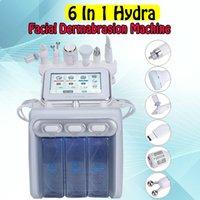 La nueva llegada 6 en 1 Agua dermoabrasión Hydro Máquina facial con oxígeno enfriamiento de la piel Scrubber RF Jet Ultrasonido Hydra belleza máquina para Spa
