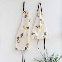 Elegant Kitchen Apron Cute Cartoon Sleeveless Cotton Linen A...