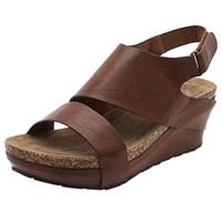 Chaussures Nouvelle mode Sandales de mode Casual Femme Femme Confortable Coins plate-forme Plateforme Open Toe Sandales Roman