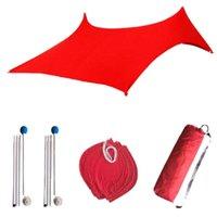 Tende e rifugi Spiaggia Tenda da sole Tenda Protezione solare Parasole Ultraviolet Outdoor Camping Fishing Bhd2
