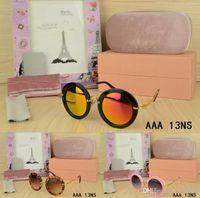 5f16b72444 New Arrival. Brand fashion Steampunk Round Frame designer sunglasses  Outdoor Club girl Ladies glasses ...