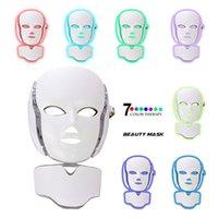 7 цветов красотки терапией фотона Сид лицевая маска света уход за кожей омоложение акне удаление морщин лица антивозрастной красоты спа инструмент