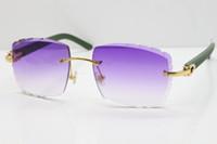 Randlose Gläser grün Aztec Sonnenbrille Metall Mix Arme 3524012 Sonnenbrille Unisex Lese Sonnenbrille Gold Rot Linse C Dekoration Goldrahmen Eyewear