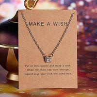 9 Designs Femmes Femmes Fashion Card Card Pendentif Colliers 2020 Neuf Charme Strass Diamants Argent Couleur Pendentif Collier Collier Anniversaire Cadeaux Bijoux
