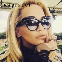 Kadiguci جديد أزياء العلامة التجارية مصمم توم القط العين النظارات النساء المتضخم إطار خمر النظارات oculos دي سول uv400 k332