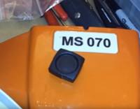MS070 potentes cadena pesada sierra de cadena gasolina vieron con 30inch, guía 36inch placa de la cadena de sierra 105cc