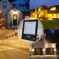 Энергосберегающие 100W Супер яркие Прожекторы светодиодные Солнечные лампы Открытый свет работы IP67 Водонепроницаемый Открытый Прожектор для Гаража Garden Lawn