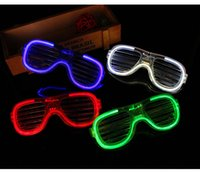 Fluorescent Party Glasses Frames LED Flash Luminous Eye Mask Shutters Flash Goggles Christmas Wedding Carnival Dance Bar Party Birthday 09