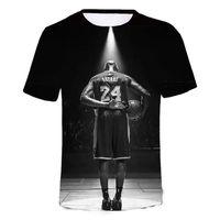 Bryant Black Mamba Erkek Tişört 3D üstleri moda Kısa Kollu Erkek Tişörtü Gevşek Günlük Tee Hip-Hop Komik Tişörtlü Ypf690 Tops