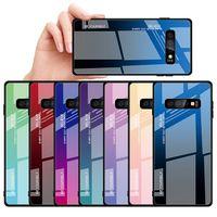 Стеклянный чехол для Iphone xs max xr x 8 7 6 дизайнерский корпус с градиентом цветного окрашенного корпуса для Samsung S10 S9 S8 plus note 8 9 корпус тонкий