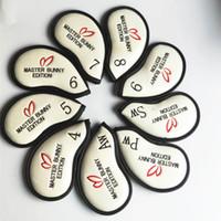 Master Hase Kristall PU Golf Headcover für Irons Rabit Golf-Eisen-Abdeckung PG Headcover 6 Farben