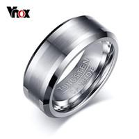 Vnox Classique 100% Carbure De Tungstène Anneau Pour Hommes De Mariage Bijoux Pas De Rouille Dropshipping T190624