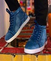 Ronda del dedo del pie ocasional que recorre, elegante top del alto Orlato zapatillas de deporte rojas de los hombres de lujo de fondo Comfort Shoes cesta Homme --La mejor regalo para él