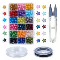 Creative multi- color five- pointed star translucent acrylic l...