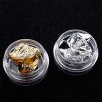 1 Box Nail Art Foil Paper Irregular Nail Art Sticker 3D Glitter Decal Manicure UV Gel Decoração Polish