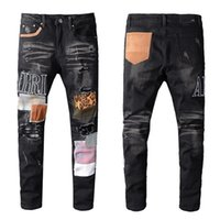 Tasarımcı Erkekler kot AMIR marka kot erkek gündelik delik şort eski yama pantolon yüksek kaliteli nakış kot pantolon ayak pantolon yıkanmış