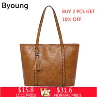 2019 Fashion Byoung Vintage Nubuck Leather Ladies Handbags R...