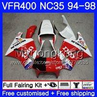 키트 없음 레이스! 화이트 혼다 용 RVF400R VFR400 NC35 V4 VFR400R 94 95 96 97 98 270HM.3 RVF VFR 400 R VFR 400R 1994 1995 1996 1997 1997 페어링