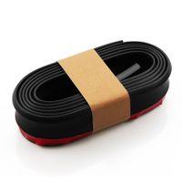 2.5M Parachoques delantero del coche de labios divisor del protector del cuerpo Alerón falda Protector de goma espuma Valance Chin Cinta de goma de coches