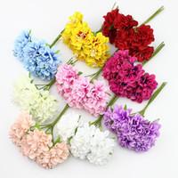 3 centímetros Silk Estame da flor da margarida Artificial para coroas Decoração do casamento DIY Scrapbooking Gift Box 60pcs plantas Falso / Lot