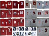 2018 alabama carmesim maré faculdade jersey 13 tua tuavailoa 2 henry 3 ridley 8 julio jones 9 bo scarbrough amarari cooper fitzpatrick