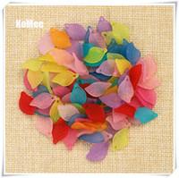 Proveedor de cuentas de acrílico de 500 unids / lote, perlas de hojas escarchadas de color surtido, 18 mm de largo, de 11 mm de ancho, 3 mm de espesor, con un agujero envío gratis