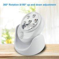Беспроводной инфракрасный датчик движения Активированный свет лампы 360 градусов вращения движения Настенные лампы туалет ночью света наружное освещение