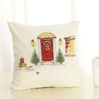 Рождественские украшения Gztzmy 2021 год Веселое дерево Санильный шар льняной декор наволочки 45x45см для дома