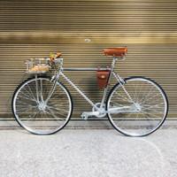 기어 자전거 트랙 단일 속도 52cm fixie 프레임 inlcude 바구니 biycle 고정 빈티지 자전거 프레임 은색 700C