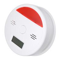 Sensör Uyarı LCD CO Karbonmonoksit Tester Zehirlenme Gaz Duman Alarmı Dedektör Monitör