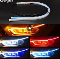Ceyes 2ST führte DRL Tagfahrlicht Blinker DRL führte Streifen-Auto-Licht-Zubehör Brems Side Leuchten Scheinwerfer für Auto