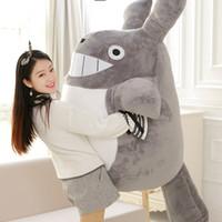 Kawaii Soft-Jumbo Plüsch-Spielzeug-Riesen Anime Totoro Puppe spielt Cartoon Kuschelkissen für Kinder Freund Geschenk DY50595