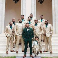 Casual Green Trajes de Hombre Мужские костюмы для жениха Свадебные смокинги Тусовки Устройства 3Печкового жених Остань Человек Blazer Terno Masculino