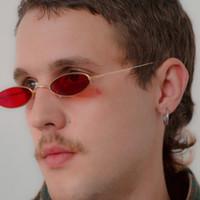 الرجعية الصغيرة البيضاوي نظارات شمسية نسائية أنثى هوب هوب خمر نظارات خمر سيدة السفر شاطئ الإطار المعدني النظارات الشمسية TTA-1120