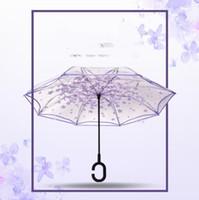 써니 비오는 우산 (8 개) 패턴 역 접는 거꾸로 우산 C 핸들 고품질 우산 도매 쇼핑몰 LXL999-1
