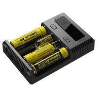Autênticas Nitecore NOVO I4 Intellicharger Universal 1500mAh Max Output e carregadores cig para 18650 18350 26650 10440 14500 Bateria