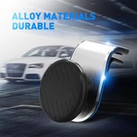mini portable noir / argent pour tous les téléphones intelligents 360 Air antidérapante magnétique voiture de gel de silice en métal Phone Holder mode GPS Accessoires Mont