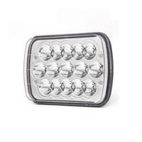 Cip kovboyu Işın H4 Tak Far Fit Mühürlü Dikdörtgen LED Farlar, H6054 5x7 Led Far 7x6 45W Hi / Düşük