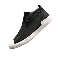 Mode toile femmes chaussures de tir de la rue de chaussures blanc d'automne, plus des chaussures de velours femmes 2019 chaussures de marée nouveau tissu de saveur Hong Kong
