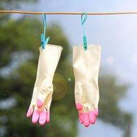 Перчатки для мытья посуды латексные резиновые водонепроницаемые тонкие чистящие перчатки для домашнего кухонного чистящего инструмента противоскользящие чистящие перчатки FFA3981-6