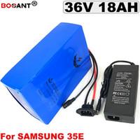 Batterie au lithium électrique pour vélo d'origine 36V 18AH pour Samsung 35E 18650