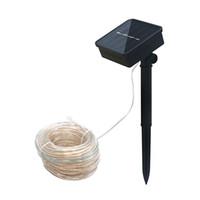 Edison2011 10 메터 100leds 태양 LED 문자열 조명 야외 5 색 로프 튜브 Led 문자열 태양 전원 요정 정원 울타리 풍경