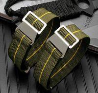 1pcs 20mm 21mm 22mm troupes françaises sac de parachute pour NYLON Elastic Nylon Belands General Brands Wacthband Montre Bracelet Bracelet militaire
