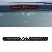 Car Styling Car Cover Car Protecteur en fibre de carbone vinyle autocollant lumière de frein arrière Décoration Hatch pour Peugeot 307 301 206 207