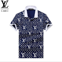 TRR 2019 Italia polo design magliette uomo Polo casual con ricamo Lettera G Fashion strip Stampa Cotton polos M-2XL