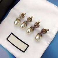 2020 new colorful diamond strawberry retro earrings female t...