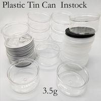 Las latas de estaño de plástico de envasado de alimentos 100ML seco de la hierba de almacenamiento engomada de la aduana 3,5 g Concentrado de contenedores Smellproof tarro de aluminio tapa transparente-botella