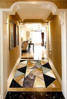 Custom Floor Mural Wallpaper Marble geometric mosaic 3D Flooring Living Room Bedroom Balcony PVC Floor Sticker Home Decor