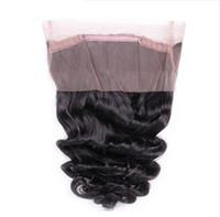 Vague meuble brésilienne 360 dentelle frontale vierge cheveux cheveux cheveux prérefinés 360 exprensions de cheveux humains